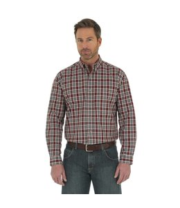 Wrangler Shirt Blue Ridge Plaid Rugged Wear RWL06GT
