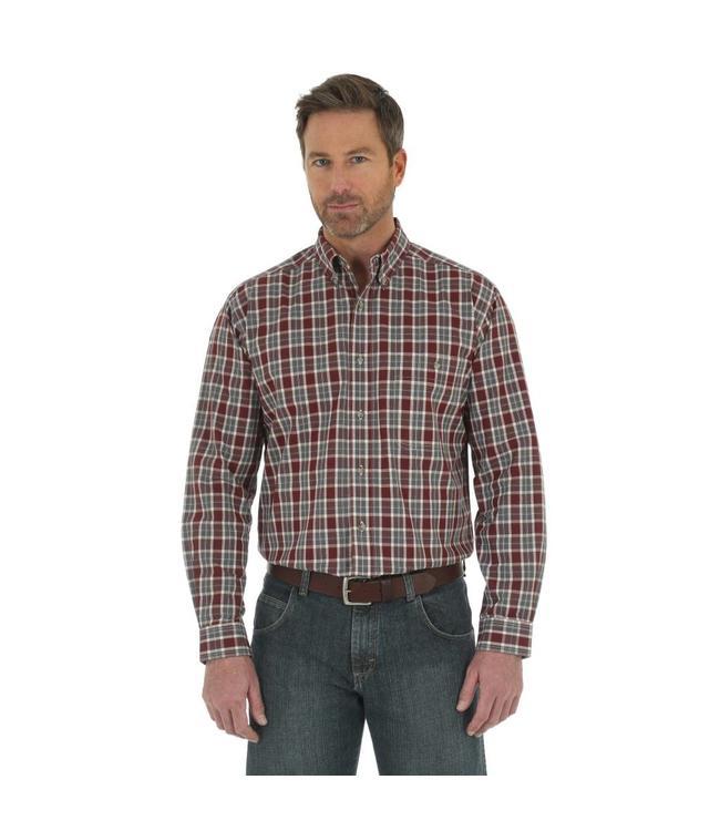 Wrangler Shirt Blue Ridge Plaid Rugged Wear RWL06GT