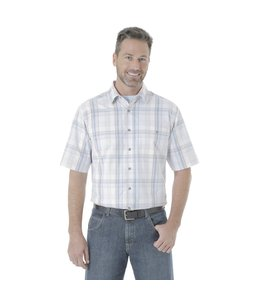 Wrangler Shirt Plaid Moisture Wicking Rugged Wear RWS96WH
