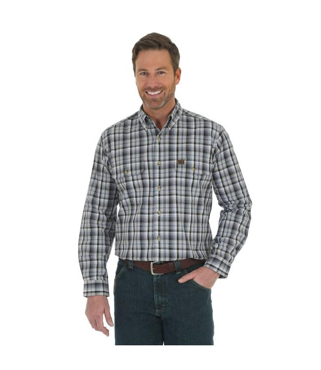 Wrangler Shirt Plaid Foreman Riggs Workwear 3W616GY