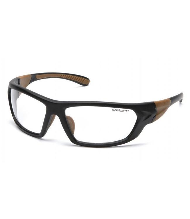 Carhartt Safety Glasses Carbondale Black-Tan Frame/Clear Lens CHB210D