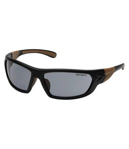 Carhartt Safety Glasses Carbondale Black-Tan Frame/Gray Lens CHB220D