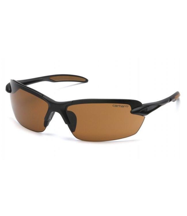 Carhartt Safety Glasses Spokane Black Frame/Sandstone Bronze Lens CHB318D