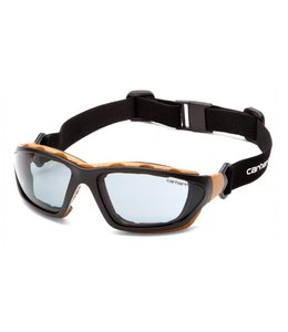 Carhartt Safety Glasses Carthage Black-Tan/Gray Anti-Fog Lens CHB420DTP