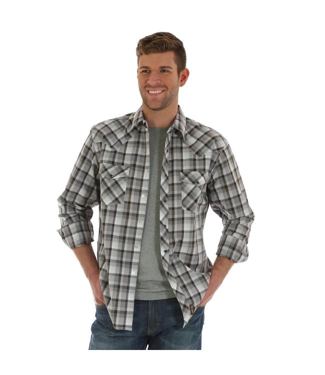 Wrangler Shirt Plaid Heavy Stitching Western Snap Long Sleeve Retro MVR361M