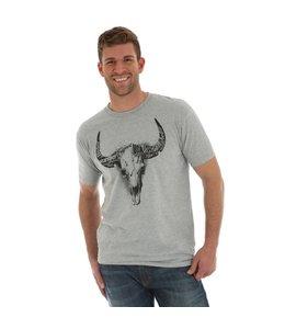 Wrangler T-Shirt Short Sleeve Screenprint Steerhead Skull MQ7761H