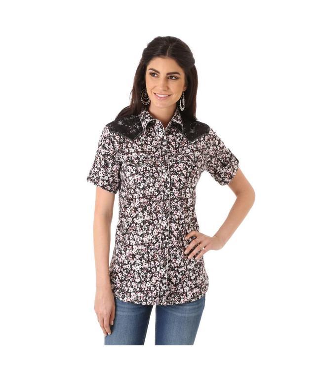 Wrangler Shirt Short Sleeve Yoke Multi Lace LW5241M