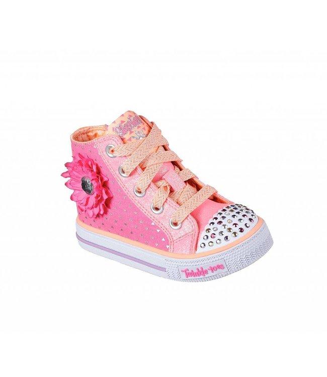 Skechers Twinkle Toes: Shuffles - Bloom Boom 10784N HPCR
