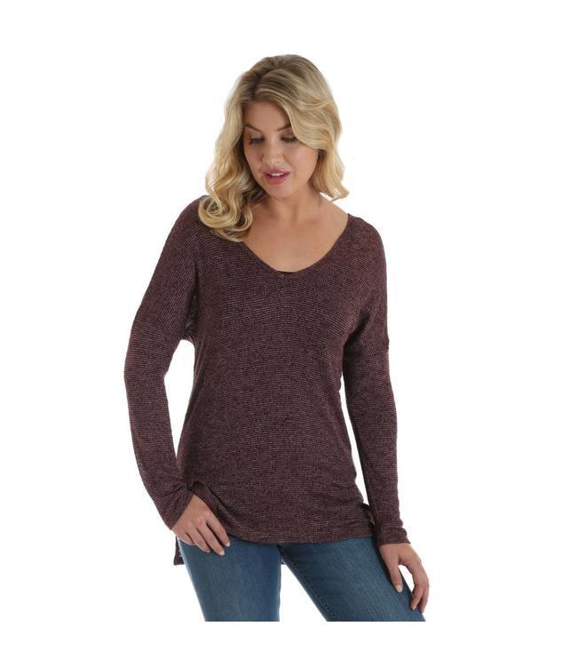 Wrangler Shirt Long Sleeve Step Hem with V-Back LWK739K