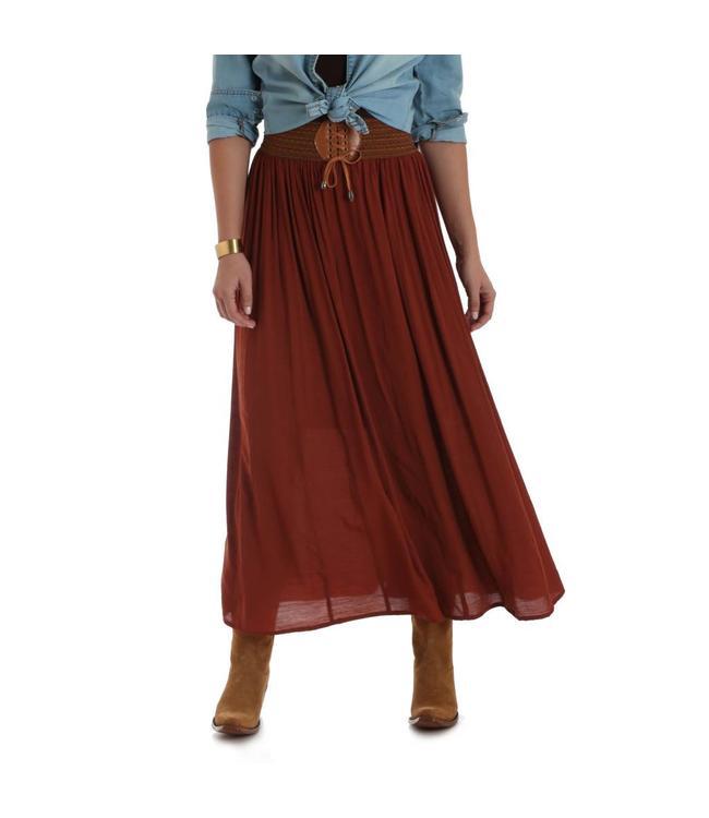 Wrangler Skirt Maxi Boho Crochet Waist LWS729R