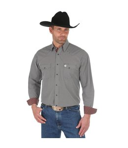 Wrangler Shirt Print Snap Western Long Sleeve George Strait Troubadour MGSE510