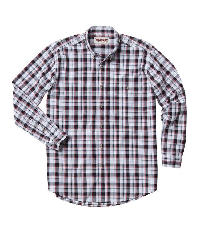 Wrangler Shirt Blue Ridge Plaid Rugged Wear RWL13BK