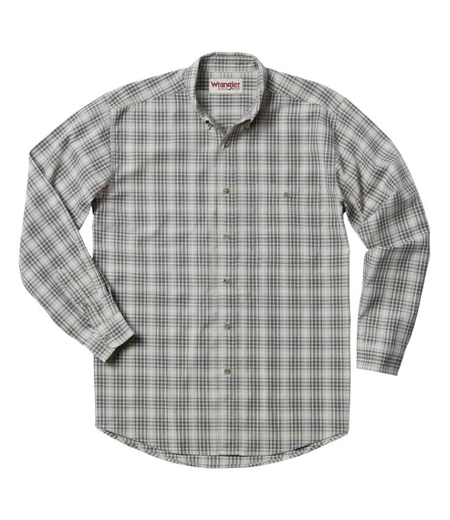 Wrangler Shirt Blue Ridge Plaid Rugged Wear RWL13SG