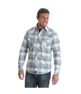 Wrangler Shirt Plaid Decorative Stitching Pockets/Yokes Long Sleeve Western Snap Rock 47 by Wrangler MRC342M