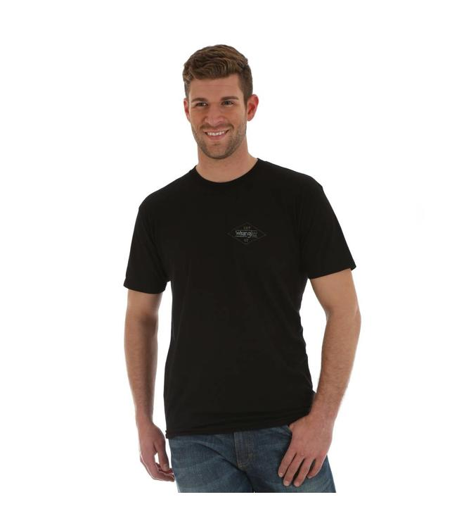 Wrangler T-Shirt Screenprint American Western Short Sleeve Est. 47 MQ7773X