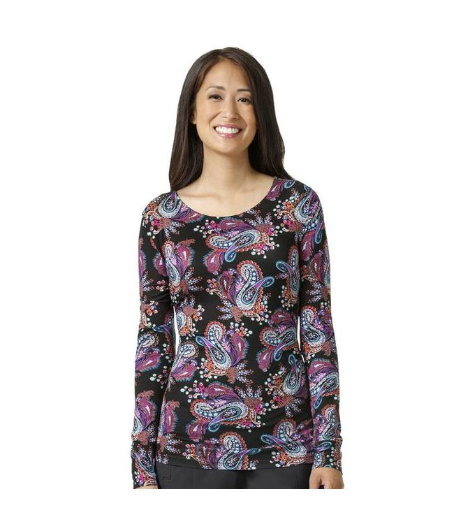 WonderWink Layer Top Printed Knit Coco V2107A