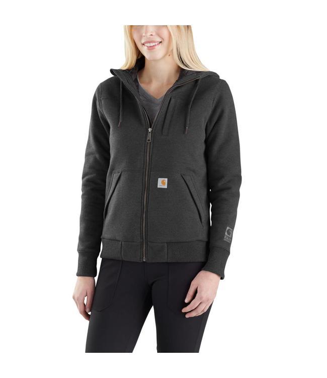 Carhartt Sweatshirt Hooded Full-Zip Quilt-Lined Rockland Rain Defender 103242