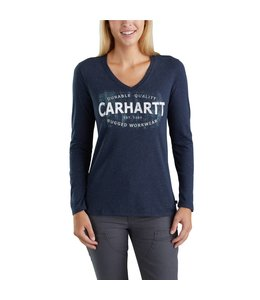 Carhartt T-Shirt Long Sleeve Durable Quality Graphic Lockhart 103253