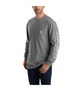 Carhartt T-Shirt Long-Sleeve Graphic Logo Sleeve Workwear 103303