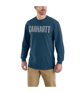 Carhartt T-Shirt Long-Sleeve Graphic Block Logo Workwear 103355