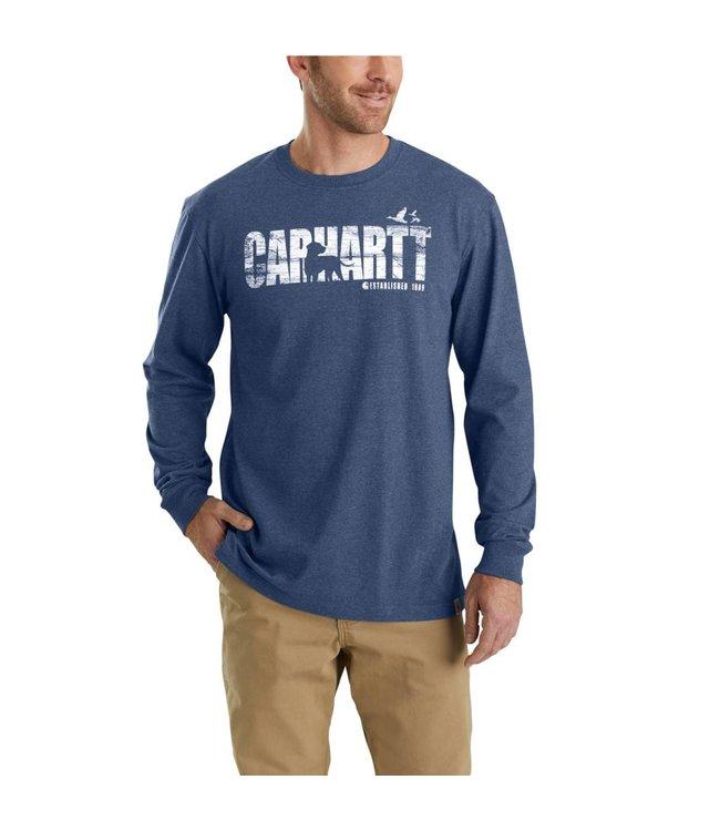 Carhartt T-Shirt Long-Sleeve Dog Graphic Workwear 103392