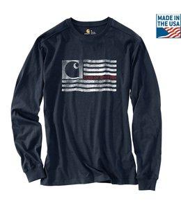 Carhartt T-Shirt Long-Sleeve Logo Flag Graphic Lubbock 103304