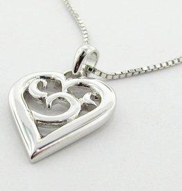 Signature Heart Silver Heart Necklace, Inamorata