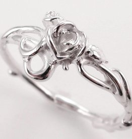 Signature Rose Silver Ring, Rose Garden