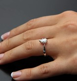 Timeless Bridal Diamond White Gold Solitaire Wexford Standard, Pear