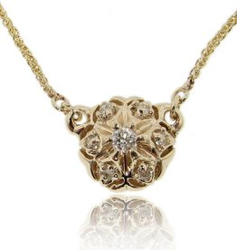 Vintage Yellow Gold Diamond Necklace, Bisnonna