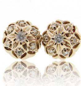 Vintage Yellow Gold Diamond Earrings, Bisnonna