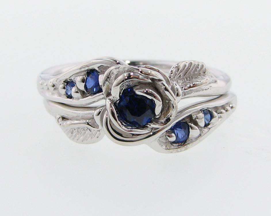 ct custom ring more color views sets set band sapphire platinum engagement wedding