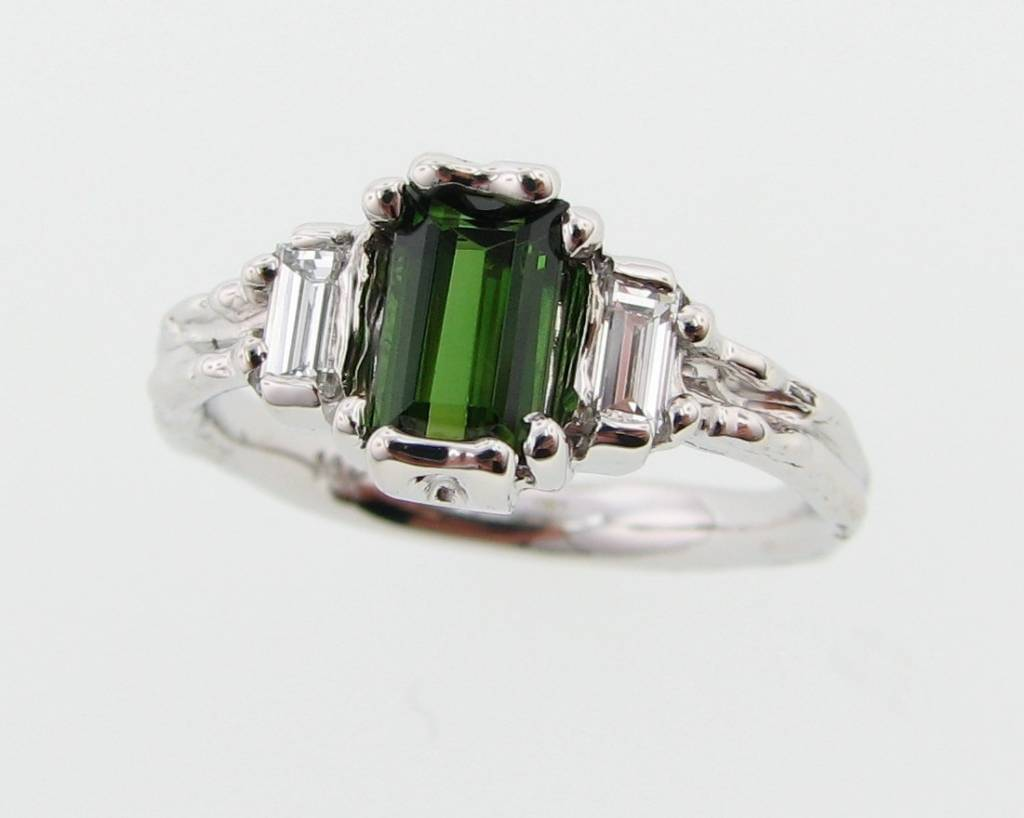 Vintage Tourmaline White Gold Ring, Timeless Luxury ...