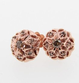 Vintage chocolate diamond earrings