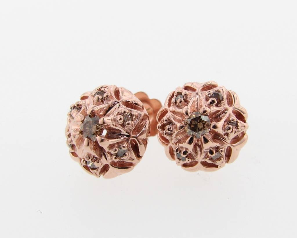 Rose Gold Chocolate Diamond Studs