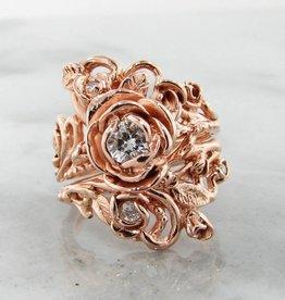 Signature Rose Diamond Rose Gold Wedding Ring Set, Jane Rose