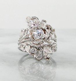 Signature Rose Diamond White Gold Wedding Ring Set, Jane Rose