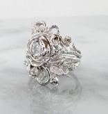 Signature Rose Diamond White Gold Wedding Ring Set, Jane Rose