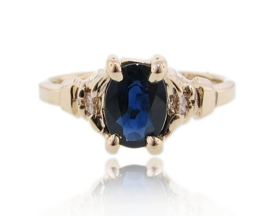 cluster ben jewelry jeweler diamond bridge ring sapphire