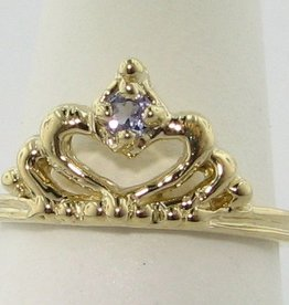 Vintage Tanzanite Yellow Gold Ring, Tiara