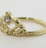 Vintage Tanzanite Yellow Gold Ring, Tiara