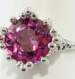 Organic Princess Ring in Pink Topaz, Sterling Silver