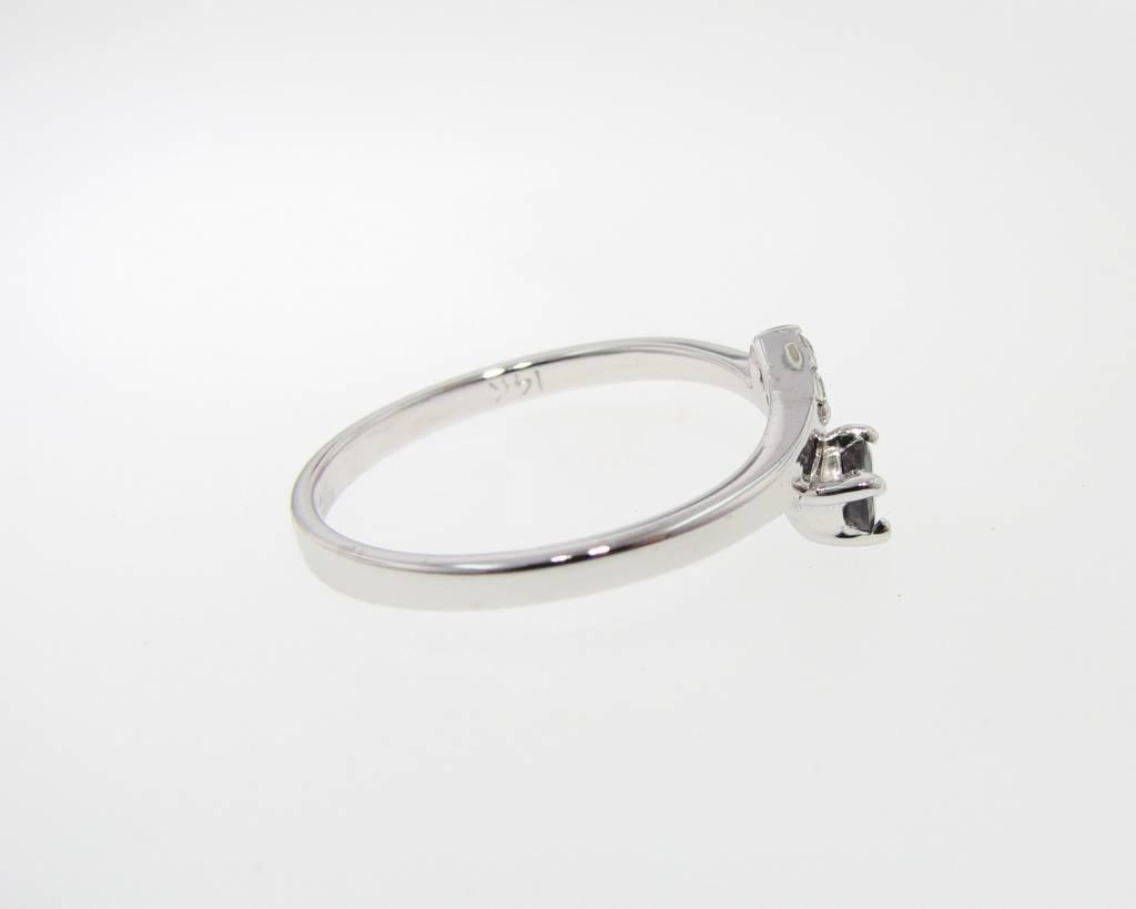 Sleek Alexandrite Diamond White Gold Ring, Tatiana