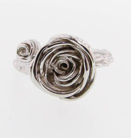 Organic Silver Ring, Ranunculus