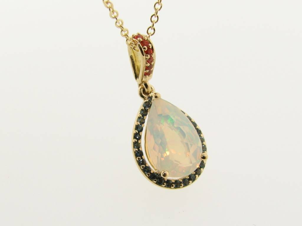 opal rose and ring diamond three gold stone nicole