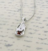 Organic Silver Maderia Citrine Pendant, Melted