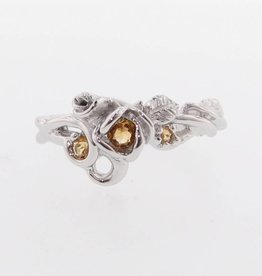 Signature Rose Citrine Silver Ring, Rose Garden