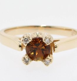 Sleek Chrysoberyl Yellow Gold Ring