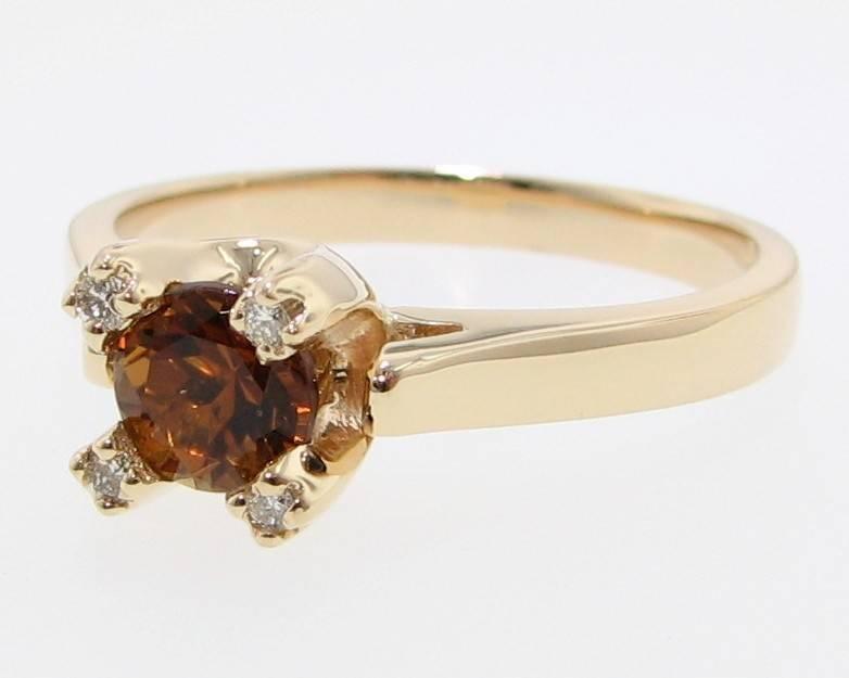 Sleek Chrysoberyl Yellow Gold Ring