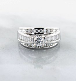 Timeless Bridal Diamond White Gold Wedding Ring, Wide